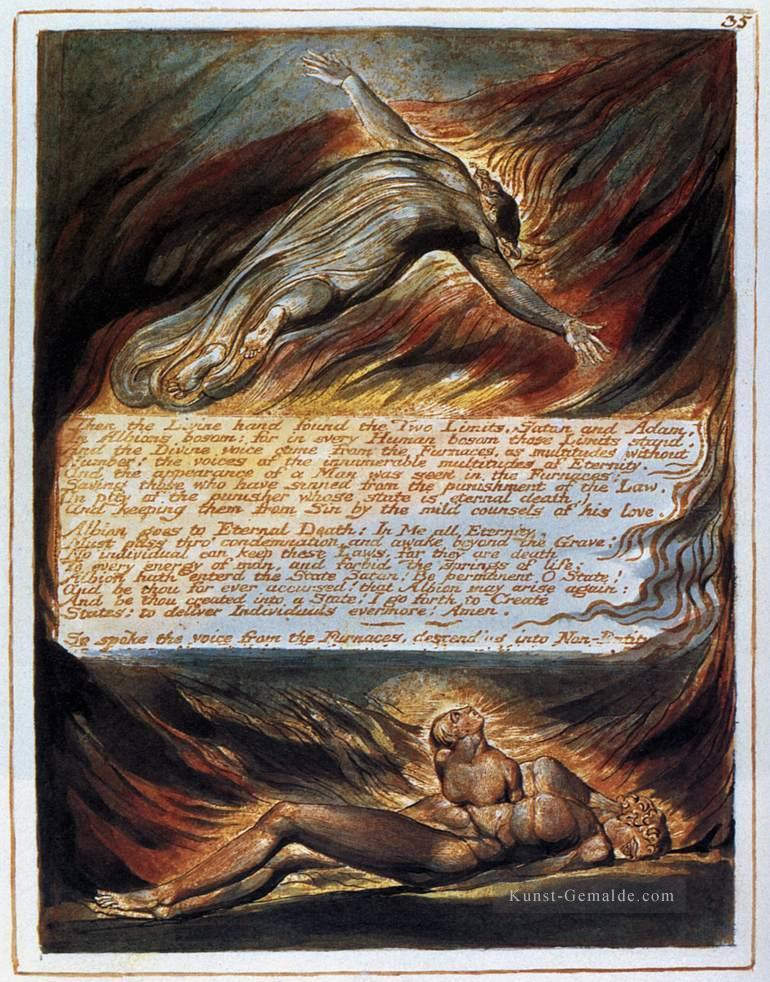 Der Abstieg Christi Romantik romantischen Alter William Blake Ölgemälde