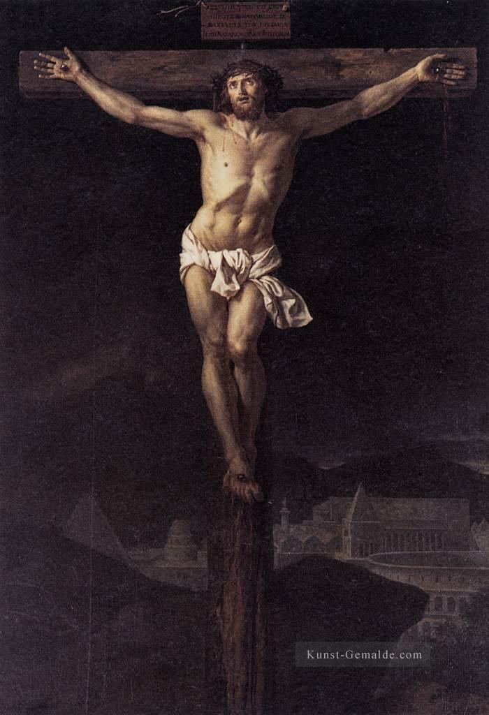 Christus am Kreuz Neoklassizismus Jacques Louis David Ölgemälde