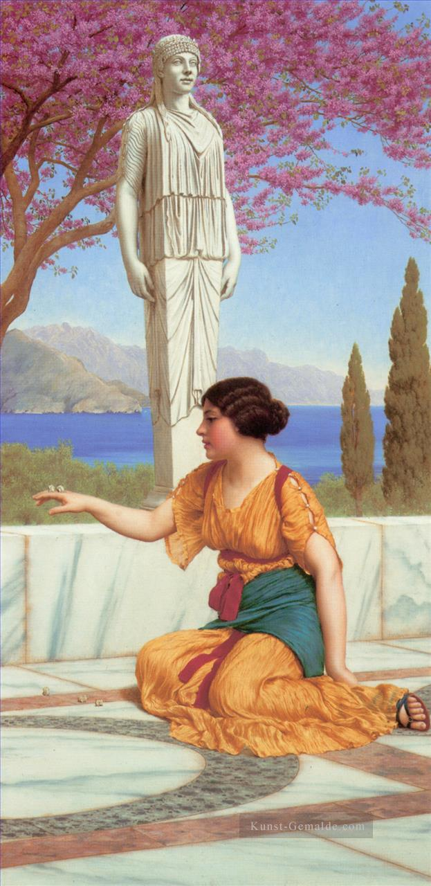 alten Pastimes Neoclassicist Dame John William Godward Ölgemälde