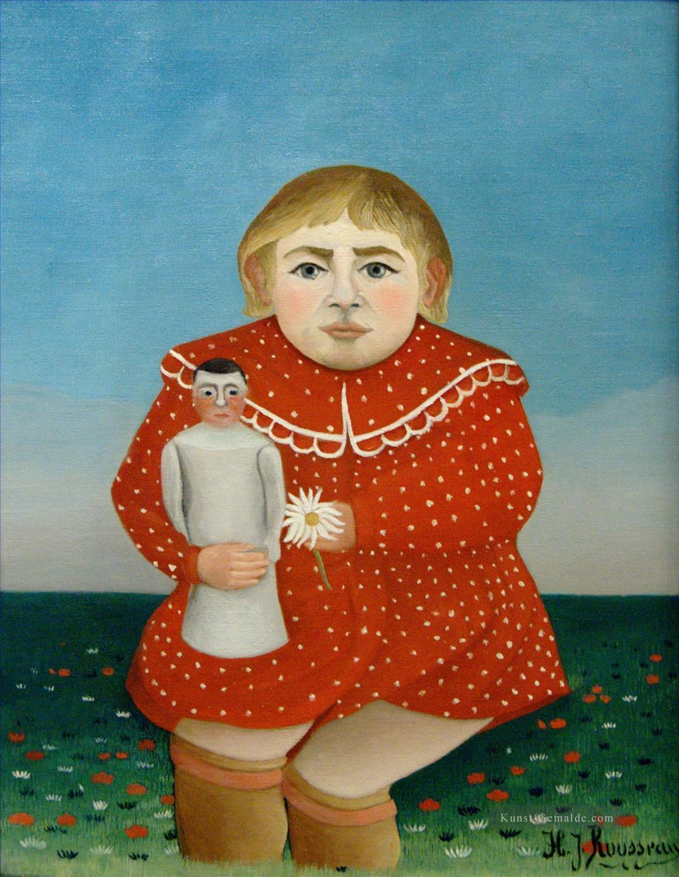 Das Mädchen mit einer Puppe 1905 Henri Rousseau Post