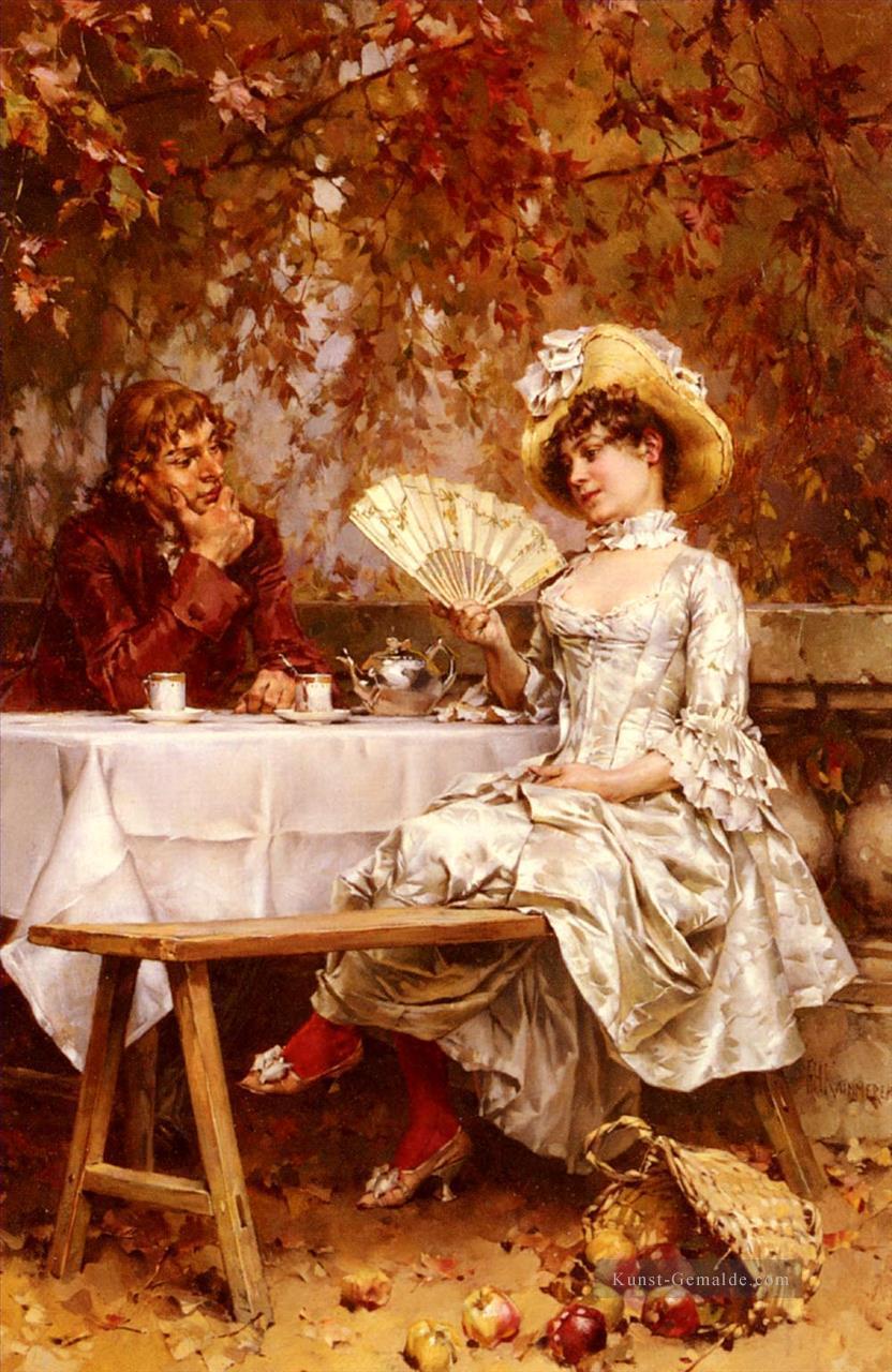 Tee Im Garten Herbst Frau Kaemmerer Frederik Hendrik Gemalde Mit Ol Zu Verkaufen