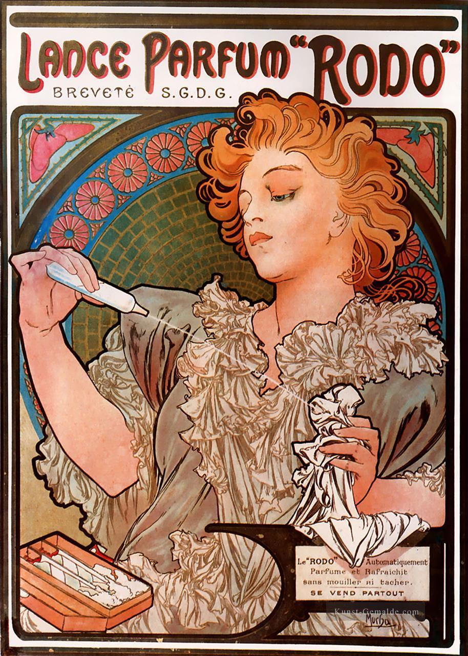 Jugendstil Malerei lanceparfum rodo 1896 tschechisch jugendstil alphonse mucha gemälde