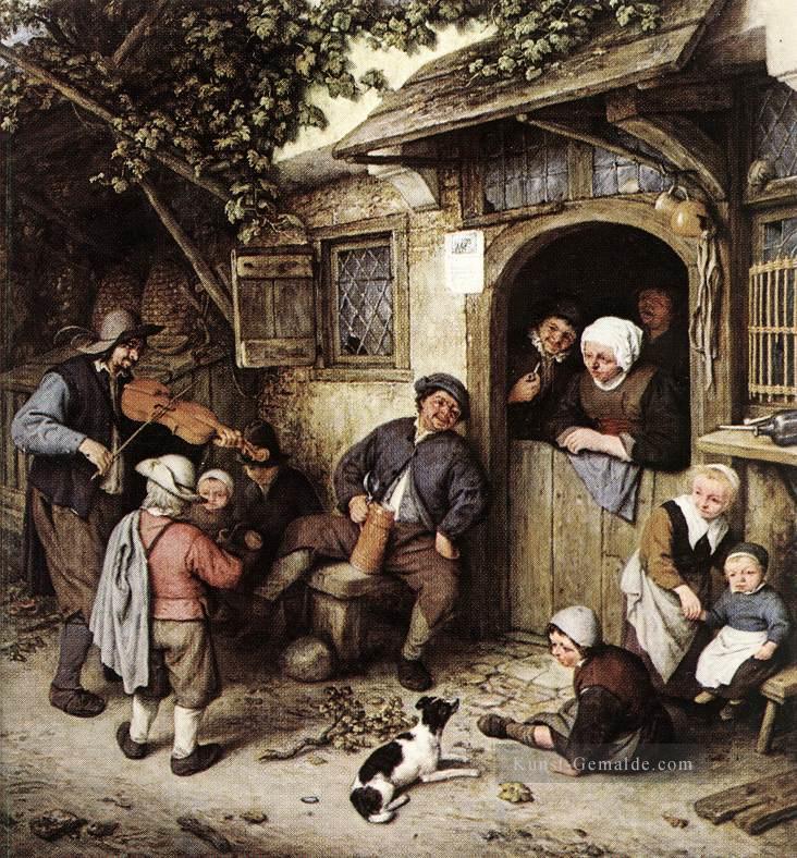 Genremalerei berühmt  Der Geiger Holländischen Genremaler Adriaen van Ostade Gemälde mit ...