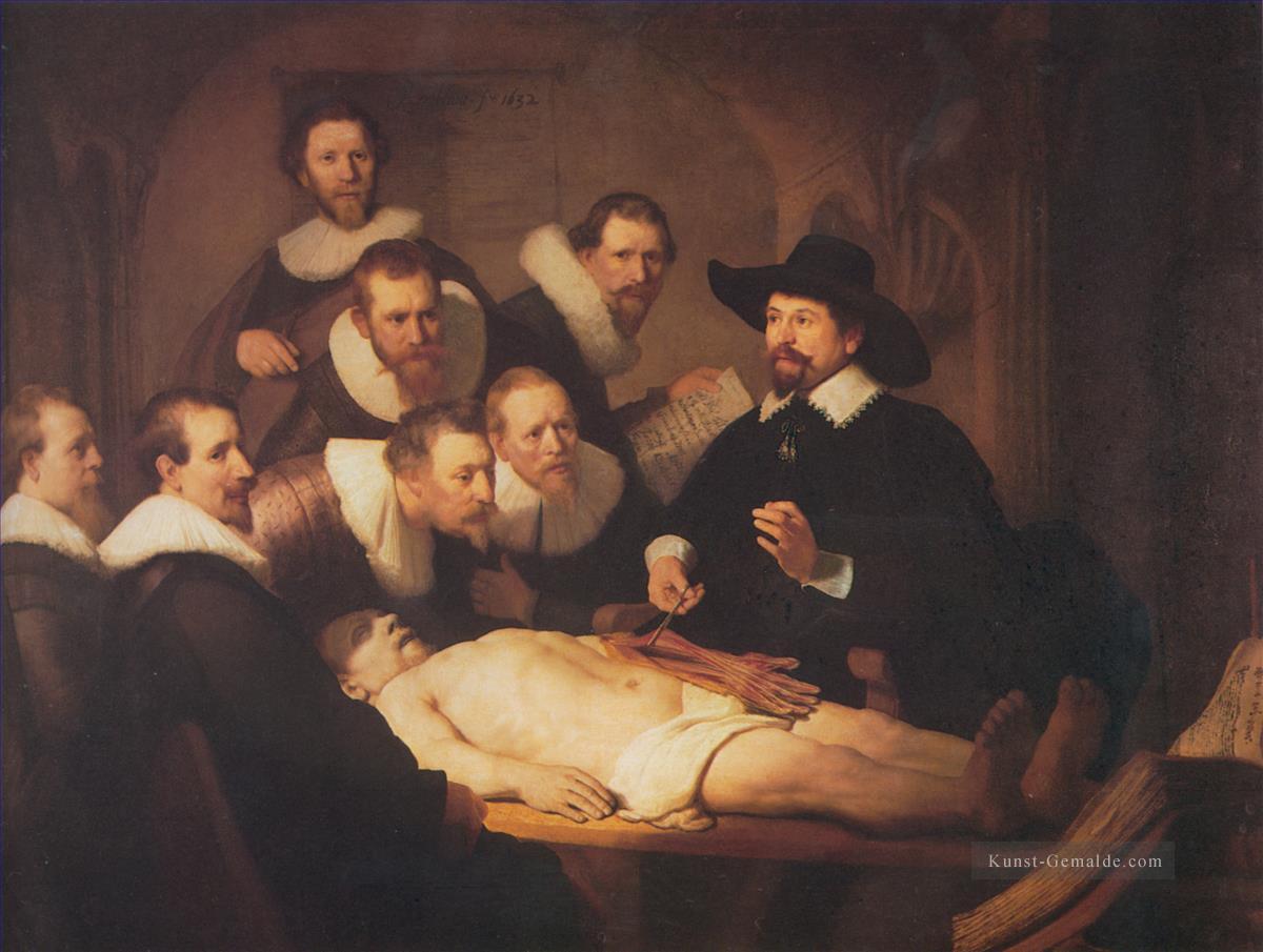Die Anatomie Vortrag von Dr Nicholaes Tulp Rembrandt Gemälde mit öl ...