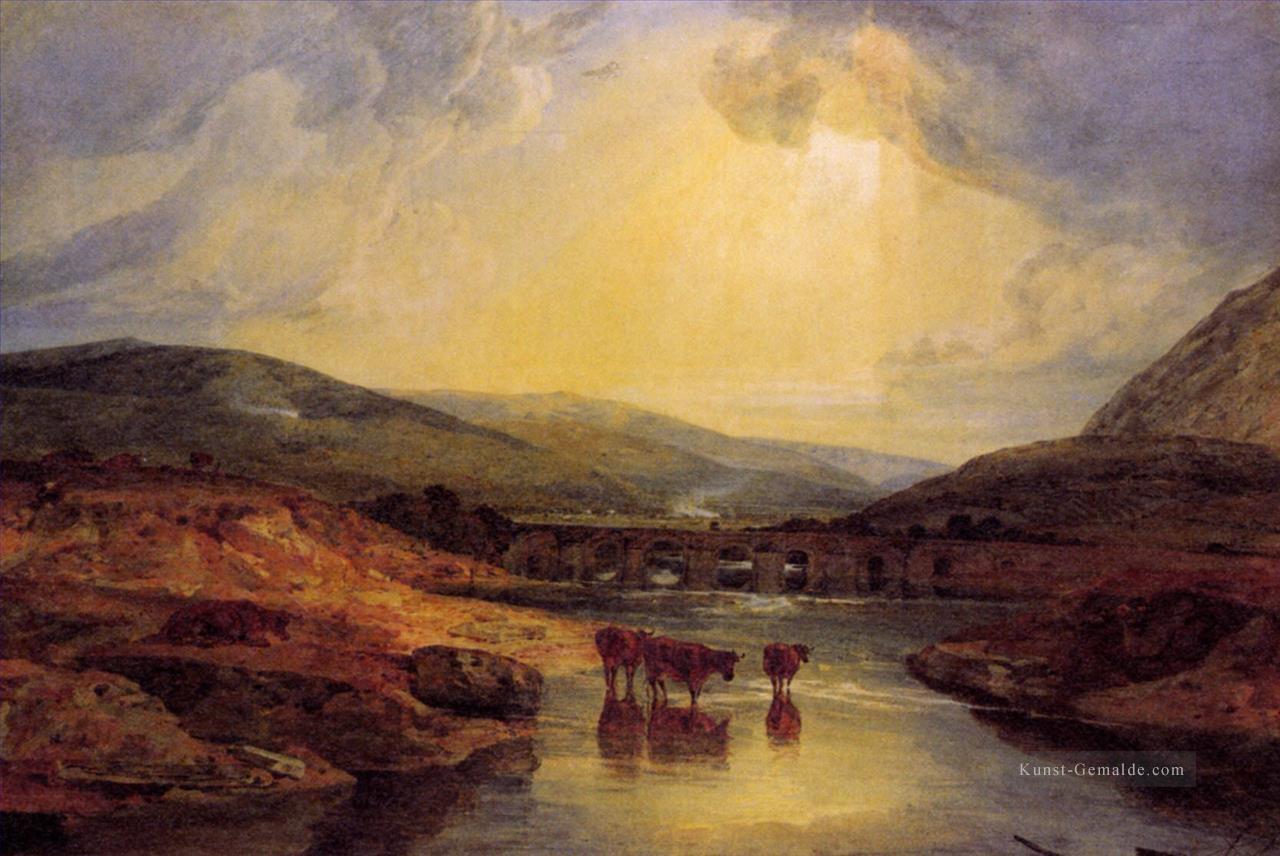 Landschaftsmalerei renaissance  Abergavenny Bridge Monmountshire clearing up after a showery day ...
