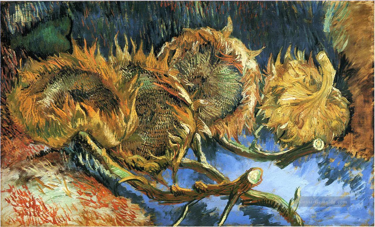 Stillleben Mit Vier Sonnenblumen Vincent Van Gogh Gemälde Mit öl Zu