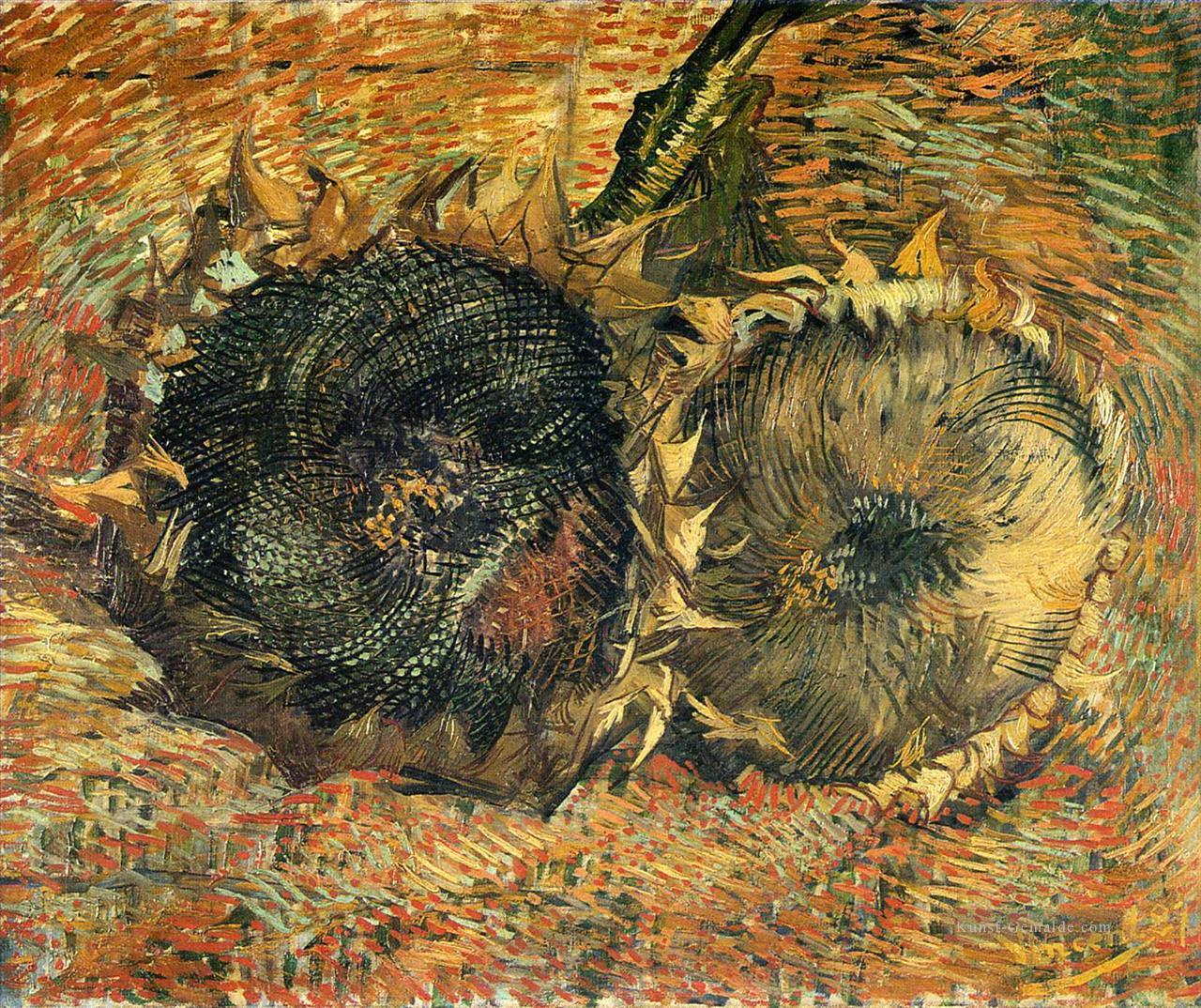 Stillleben Mit Zwei Sonnenblumen 2 Vincent Van Gogh Gemälde Mit öl