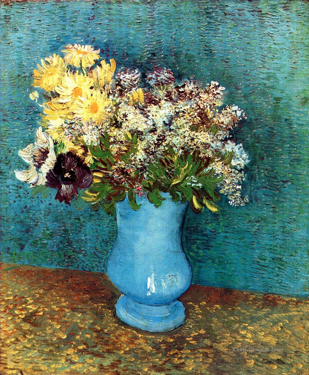 vase mit flieder margerites und anemonen vincent van gogh gem lde mit l zu verkaufen. Black Bedroom Furniture Sets. Home Design Ideas