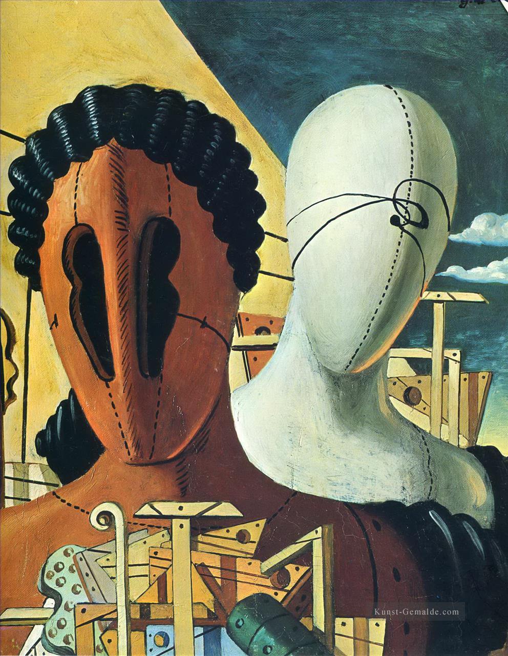 Die Beiden Masken 1926 Giorgio De Chirico Surrealismus Gemalde Mit Ol Zu Verkaufen