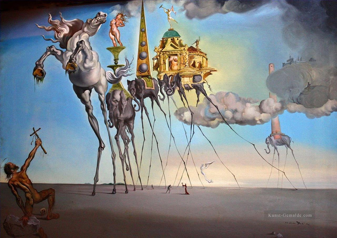 Landschaftsmalerei surrealismus  The Temptation of Saint Anthony Surrealismus Gemälde mit öl zu ...