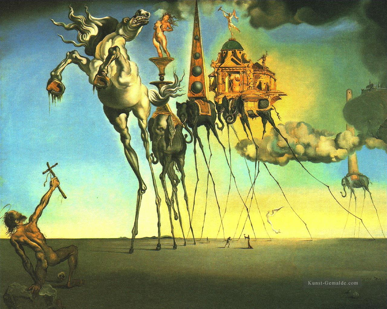 Die Versuchung Des Sant Anthony Surrealismus Gemalde Mit Ol Zu Verkaufen
