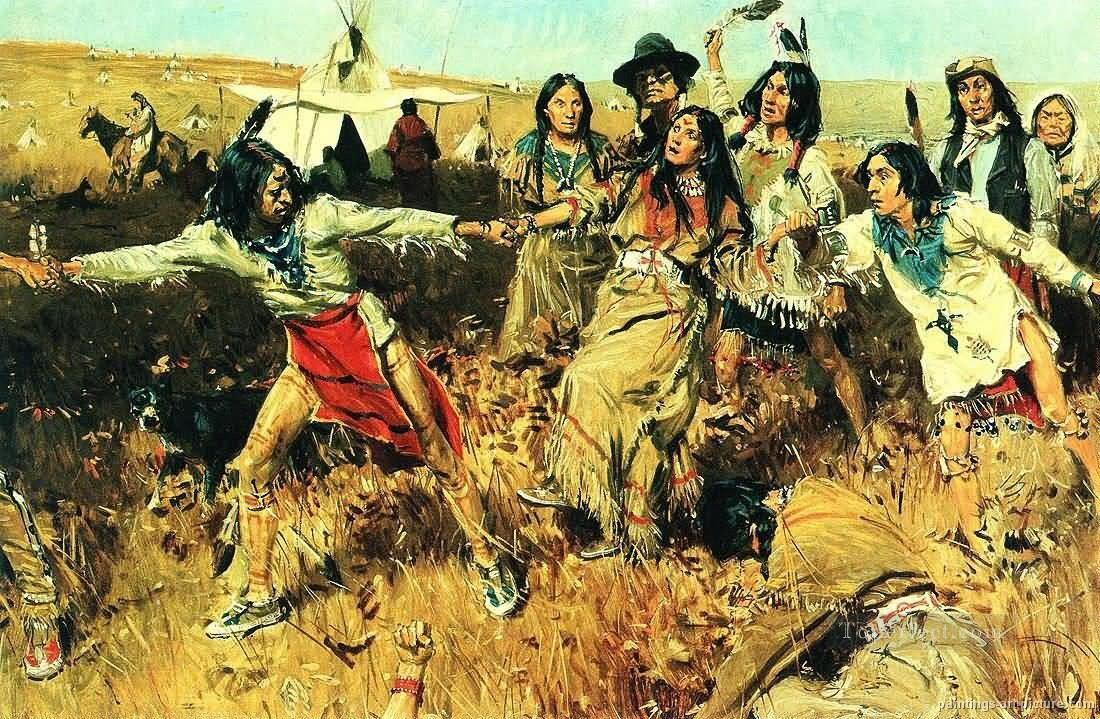 ureinwohner amerika indianer gem228lde 10 gem228lde mit 246l zu