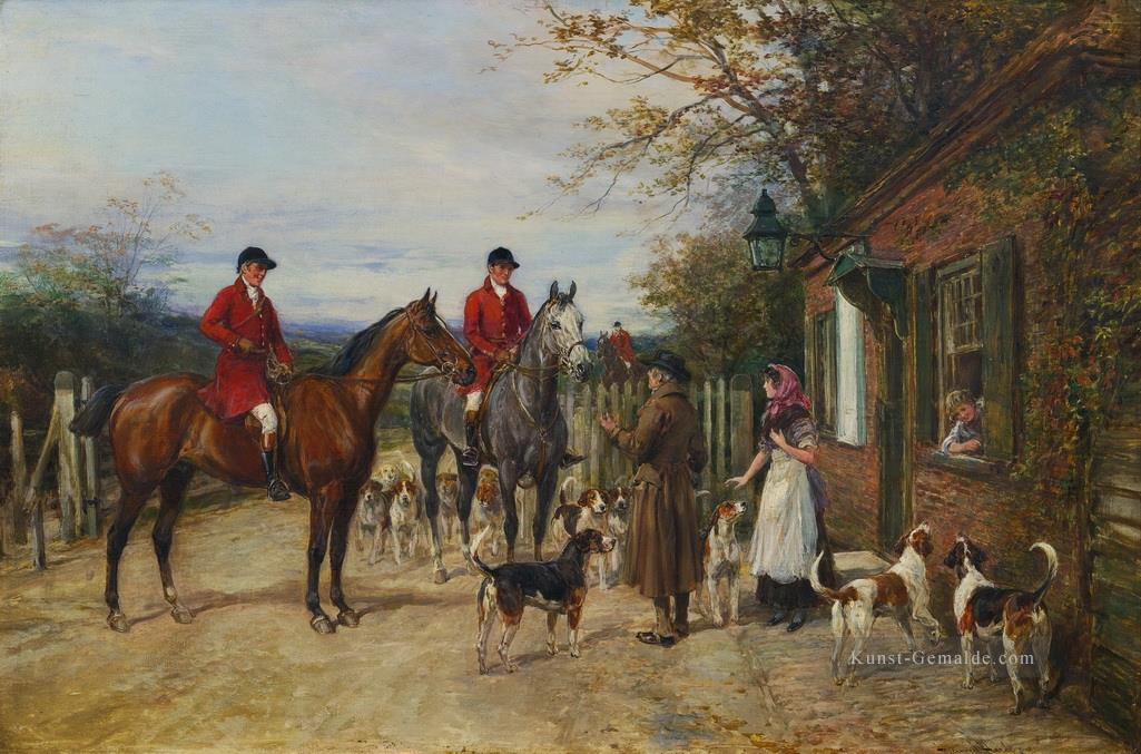 AFTER THE HUNT Heywood Hardy Jagd Ölgemälde