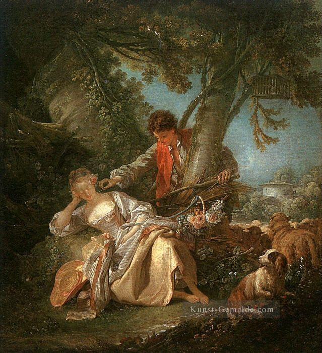 The Interrupted Sleep Francois Boucher Klassik Rokoko Gemälde mit öl ...