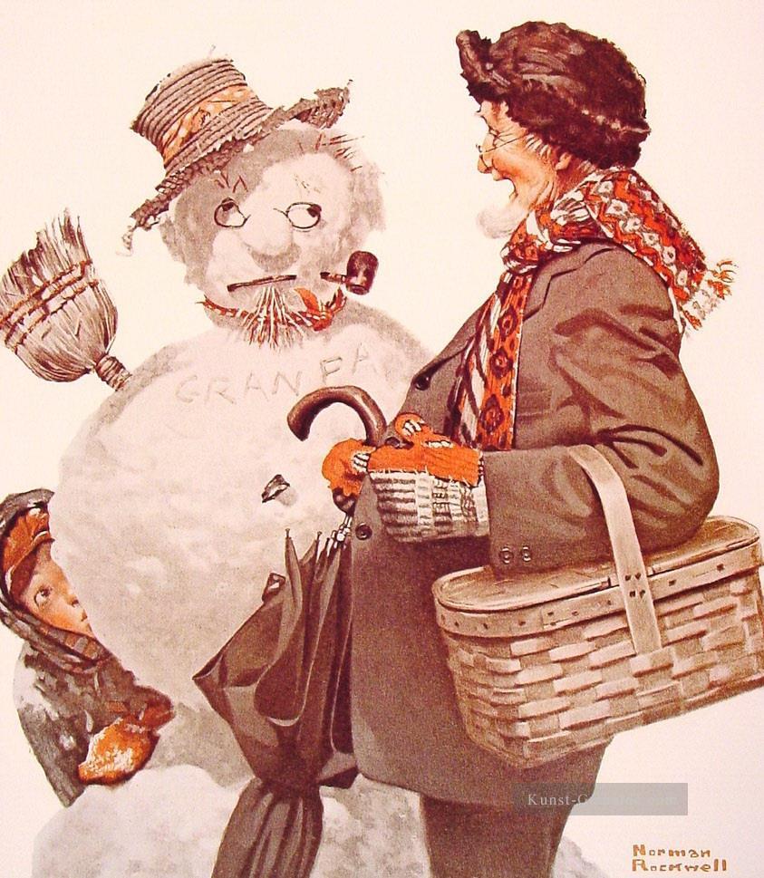 Großvater und Schneemann mann~~POS=HEADCOMP 1919 Nur für ...