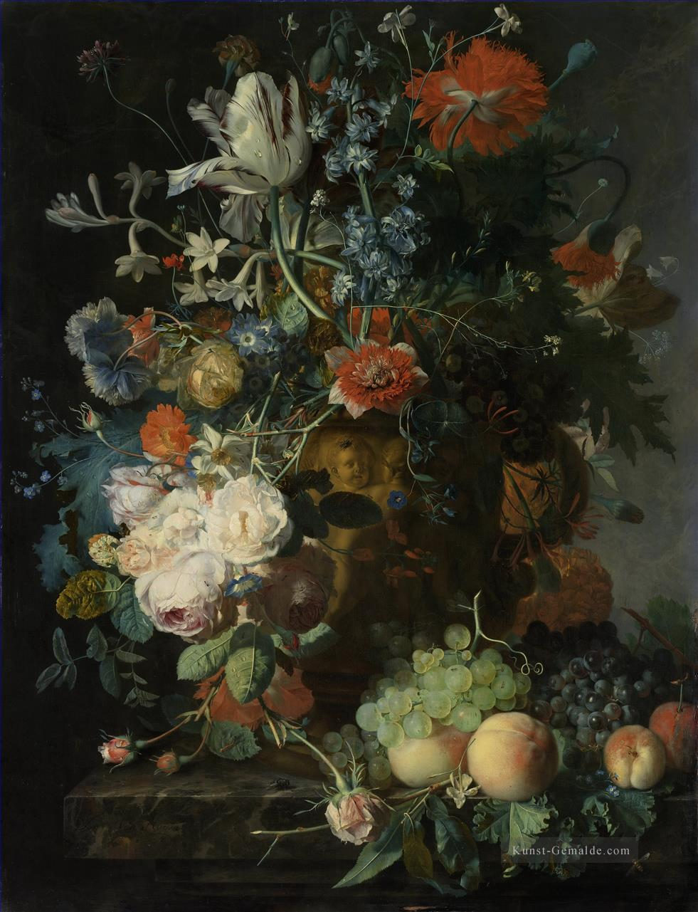 Stillleben with Flowers and Fruit 4 Jan van Huysum Klassik Ölgemälde