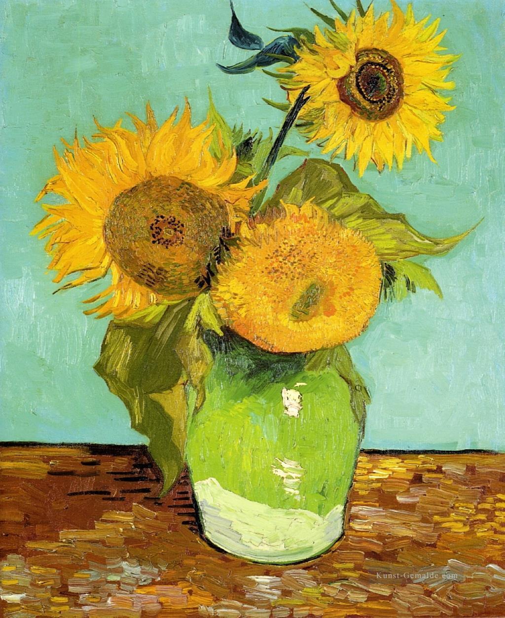 Sonnenblumen Vincent Van Gogh Impressionistische Blumen Gemälde Mit