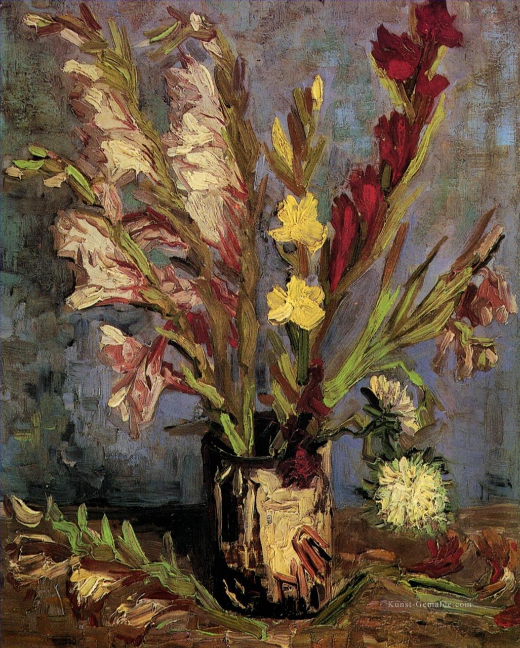 vase mit gladiolen vincent van gogh impressionistische. Black Bedroom Furniture Sets. Home Design Ideas