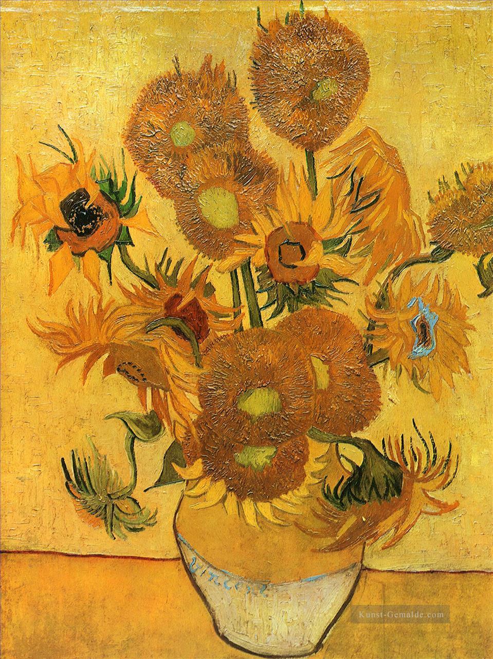 Stillleben Vase Mit Fünfzehn Sonnenblumen 2 Vincent Van Gogh Blumen