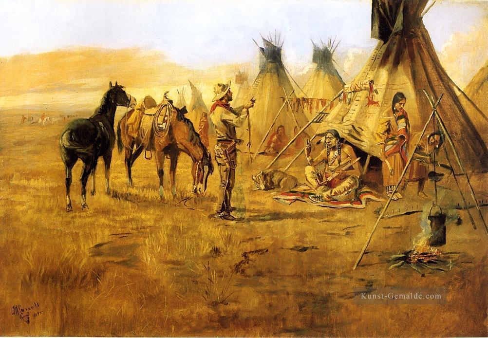 cowboy verhandeln für einen indischen mädchen cowboy