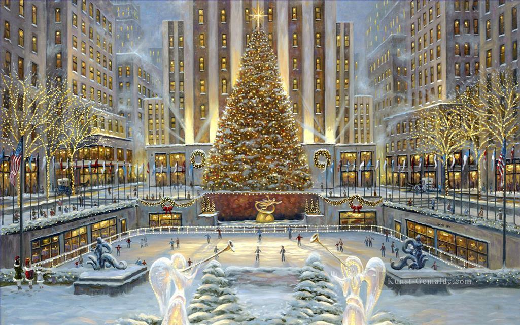 weihnachten in new york stadtansichten gem lde mit l zu. Black Bedroom Furniture Sets. Home Design Ideas