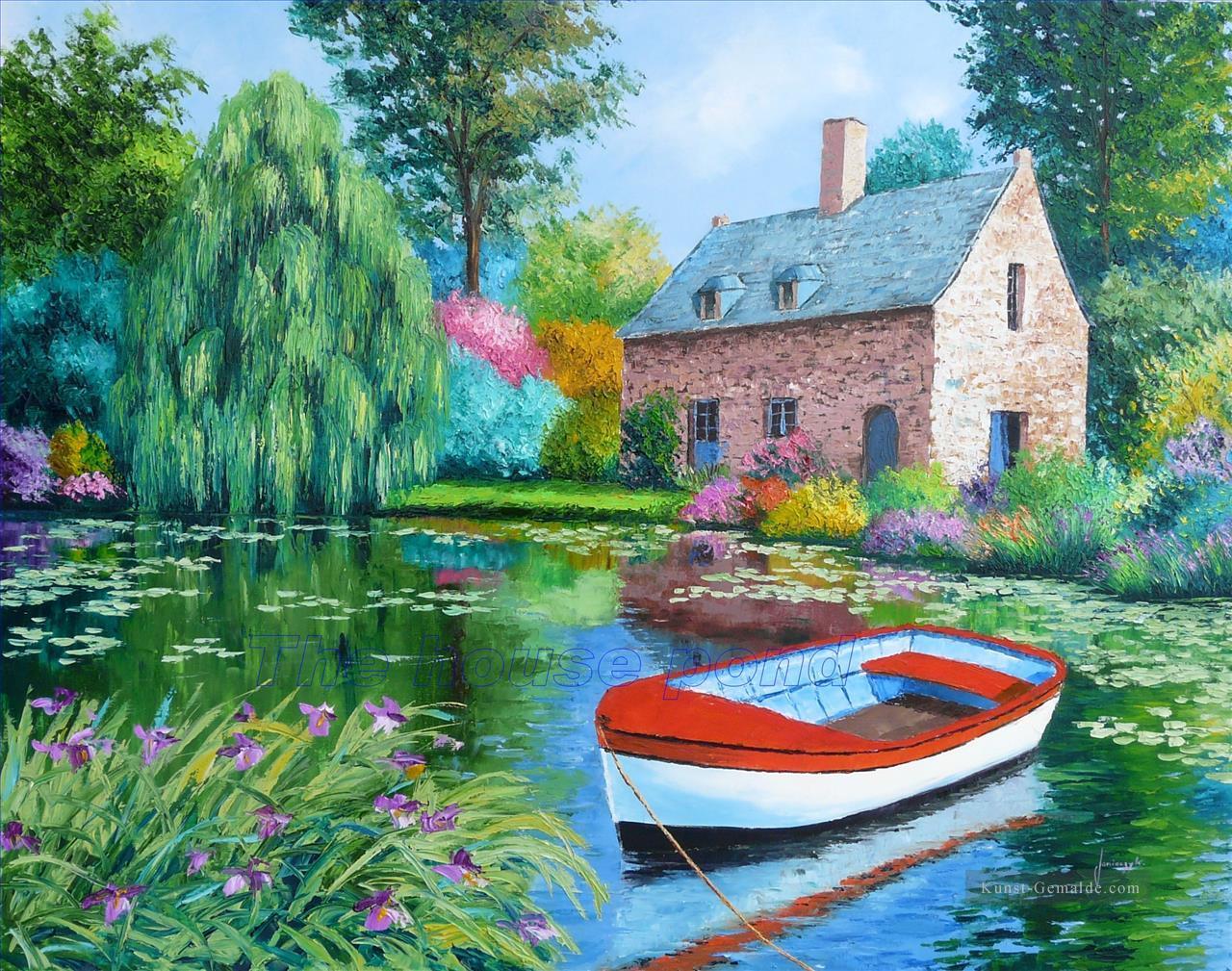 Haus Teich Garten Gemälde Mit öl Zu Verkaufen