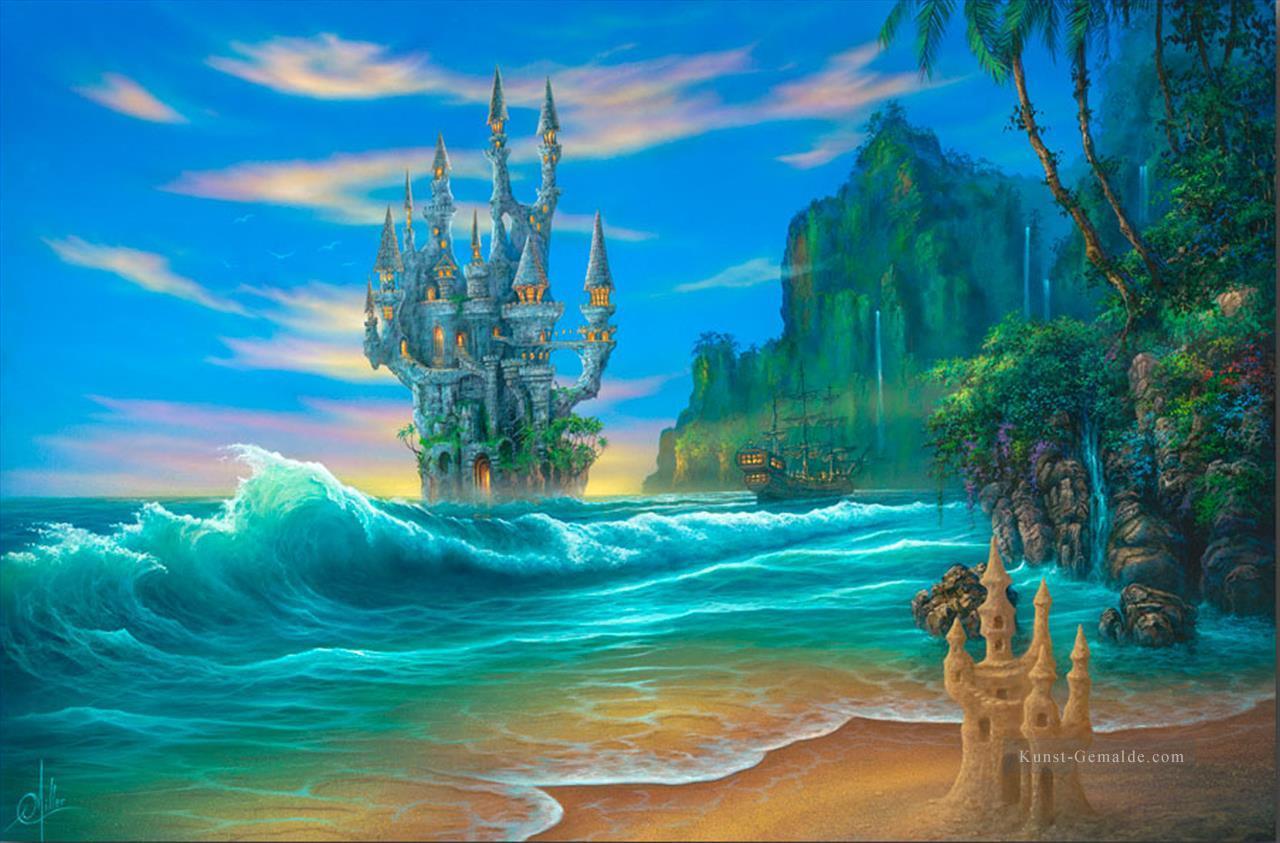 ebdcd5b973 Fantasie Strand Regenwald Berge Gemälde mit öl zu verkaufen