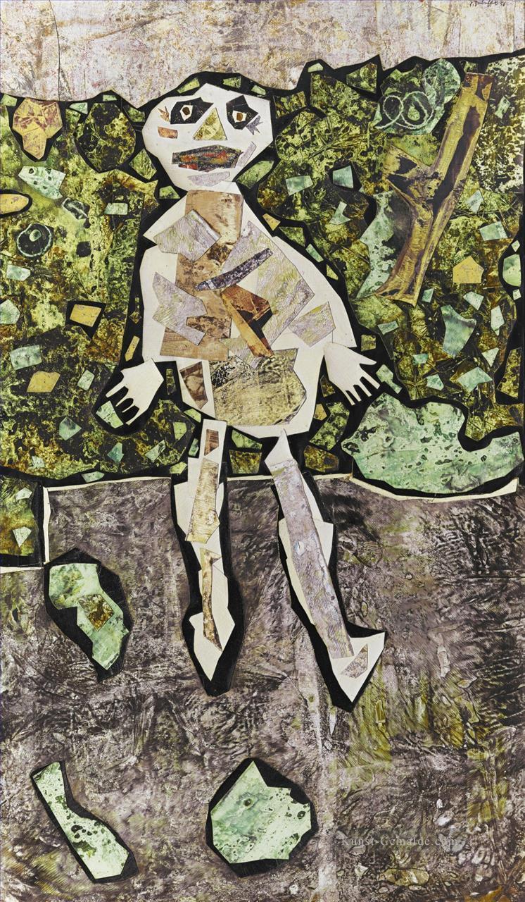 GEORGES DUBUFFET AU JARDIN Moderne Gemälde mit öl zu verkaufen