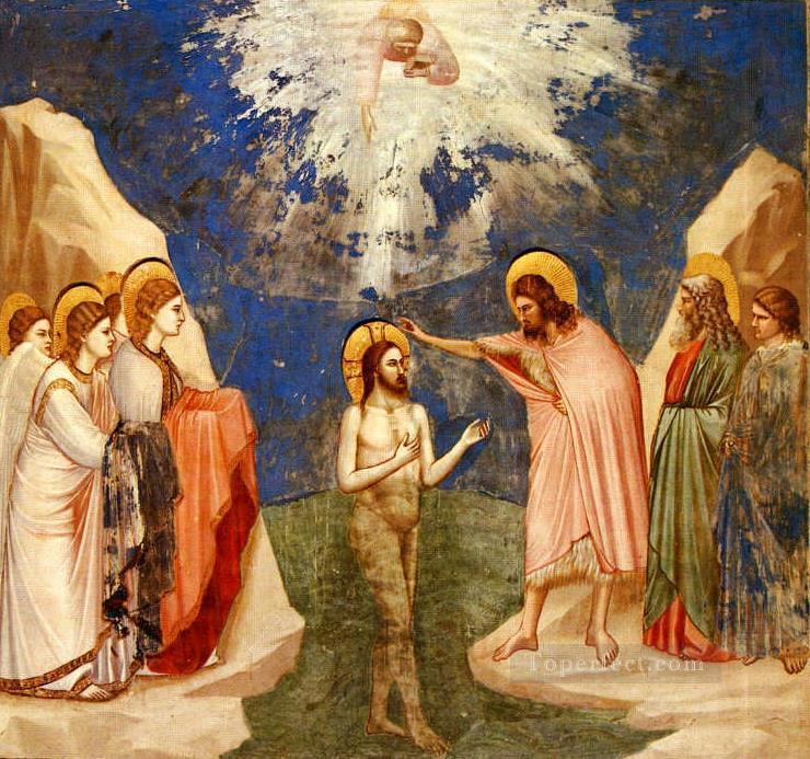 Taufe Von Jesus Religiosen Christentum Gemälde Mit öl Zu