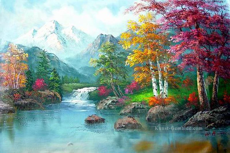 6ecba566d4 günstig Vivid Freehand 09 Bob Ross Landschaft Gemälde mit öl zu ...