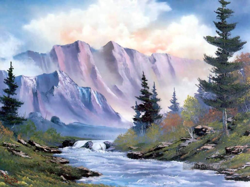 a1a8b13de5 Lila Berge Bob Ross Landschaft Gemälde mit öl zu verkaufen